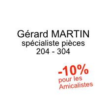 Pieces detachees 204 chez Gerard Martin